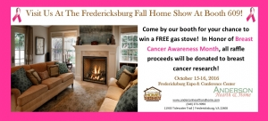 Visit the Anderson companies at the Fredericksburg fall home show this weekend october fifteenth and sixteenth