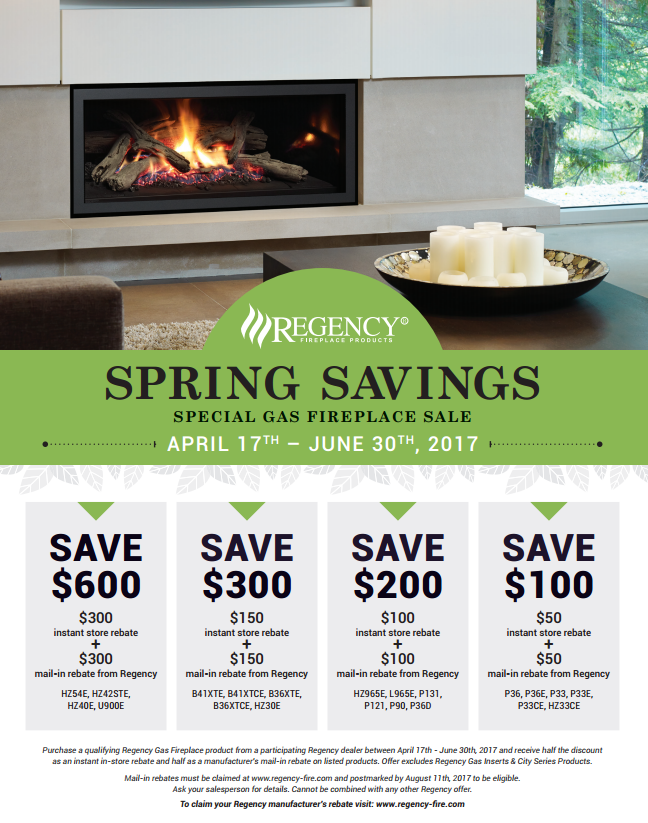 Announcing Regency Spring Savings